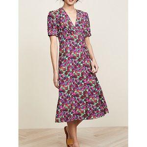 A.P.C. Francis Floral midi dress